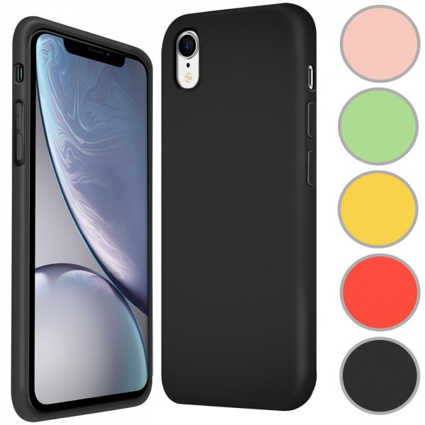 Safers Color TPU für Apple iPhone XR Hülle Soft Silikon Case mit innenliegendem Stoffbezug