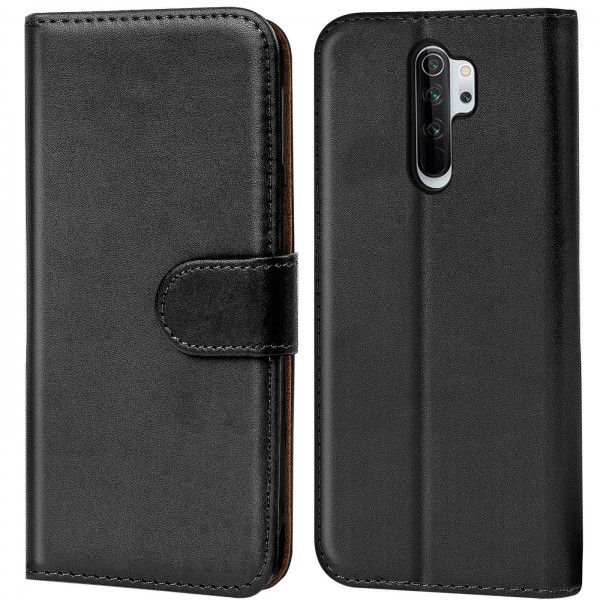 Safers Basic Wallet für Xiaomi Redmi Note 8 Pro Hülle Bookstyle Klapphülle Handy Schutz Tasche