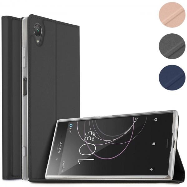 Safers Electro Flip für Sony Xperia XA1 Hülle Magnet Case Handy Tasche Klapphülle