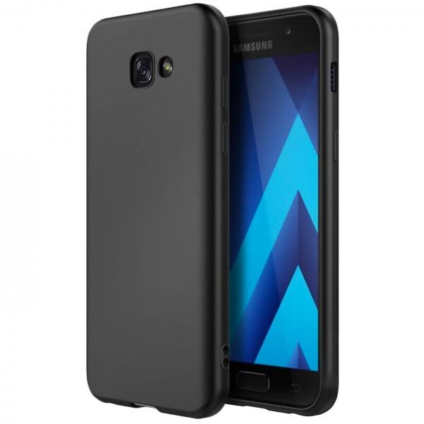 Safers Classic TPU für Samsung Galaxy A5 2017 Schutzhülle Hülle Schwarz Handy Case