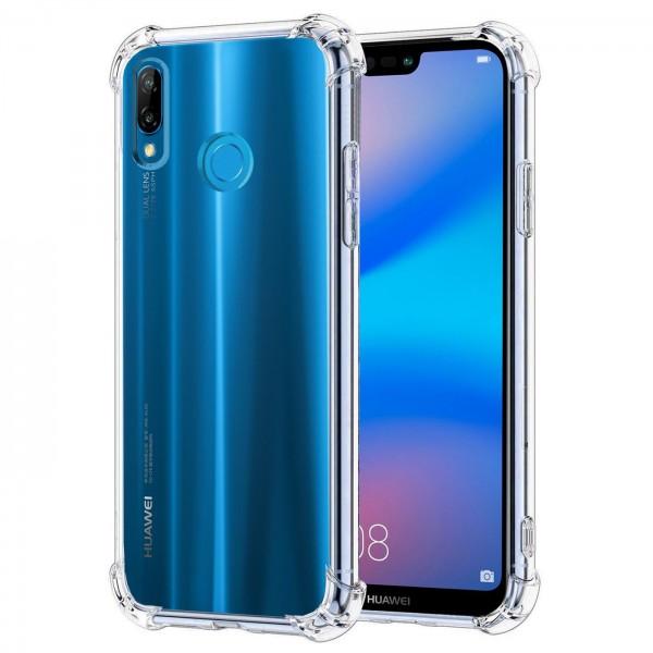 Safers Rugged TPU für Huawei P20 Lite Schutzhülle Anti Shock Handy Case Transparent Cover
