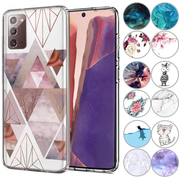 Safers IMD Case für Samsung Galaxy Note 20 Hülle Silikon Case mit Muster Schutzhülle