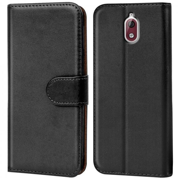 Safers Basic Wallet für Nokia 3.1 Hülle Bookstyle Klapphülle Handy Schutz Tasche