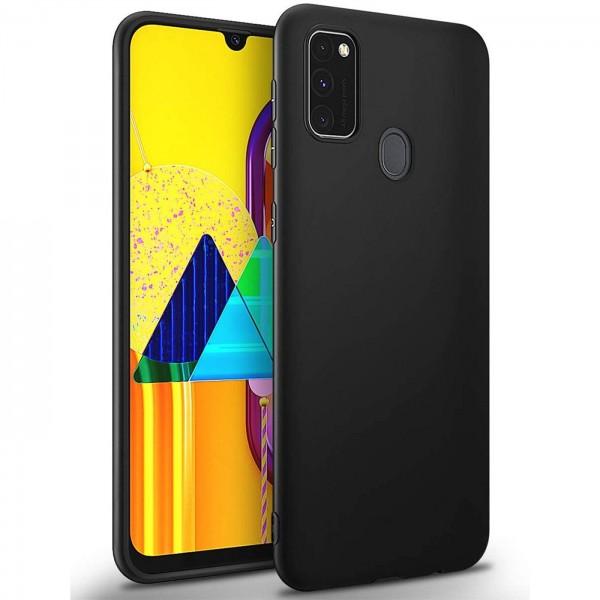 Safers Classic TPU für Samsung Galaxy M30s / M21 Schutzhülle Hülle Schwarz Handy Case