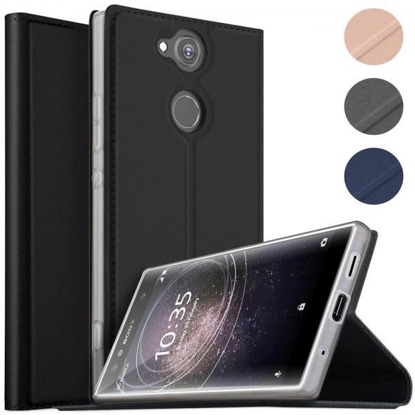 Safers Electro Flip für Sony Xperia XA2 Hülle Magnet Case Handy Tasche Klapphülle