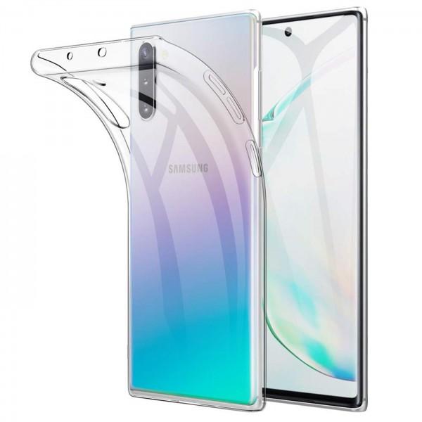 Safers Zero Case für Samsung Galaxy Note 10 Hülle Transparent Slim Cover Clear Schutzhülle