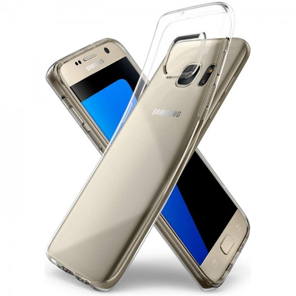 Safers Zero Case für Samsung Galaxy S7 Hülle Transparent Slim Cover Clear Schutzhülle