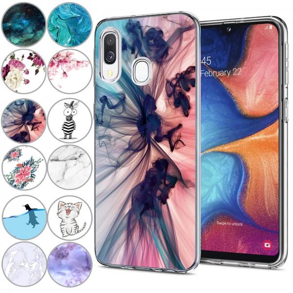 Safers IMD Case für Samsung Galaxy A20e Hülle Silikon Case mit Muster Schutzhülle