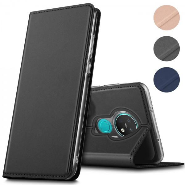 Safers Electro Flip für Nokia 7.2 Hülle Magnet Case Handy Tasche Klapphülle