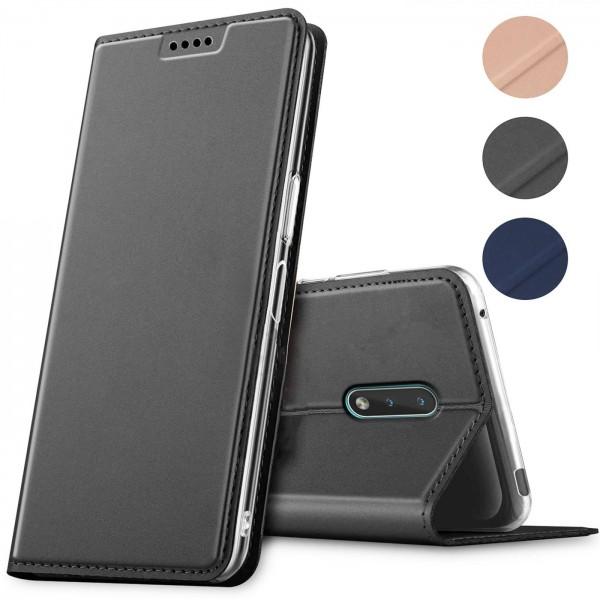 Safers Electro Flip für Nokia 2.3 Hülle Magnet Case Handy Tasche Klapphülle