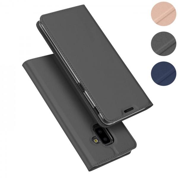 Safers Electro Flip für Samsung Galaxy J6 Plus Hülle Magnet Case Handy Tasche Klapphülle