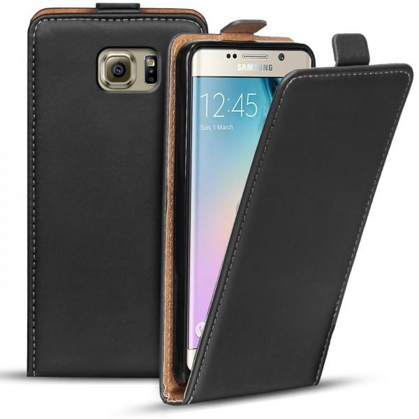 Safers Flipcase für Samsung Galaxy S6 Edge Hülle Klapphülle Cover klassische Handy Schutzhülle