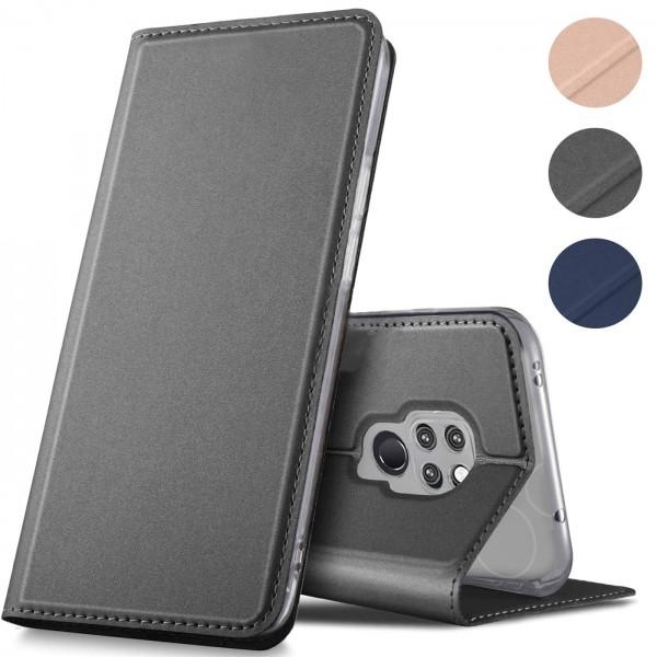 Safers Electro Flip für Huawei Mate 20 Hülle Magnet Case Handy Tasche Klapphülle