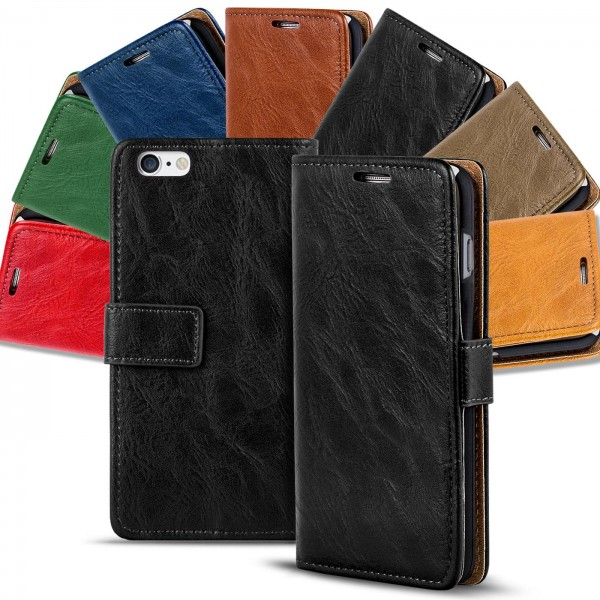 Safers Retro Tasche für iPhone 6 Plus / 6s Plus Hülle Wallet Case Handyhülle Vintage Slim Cover