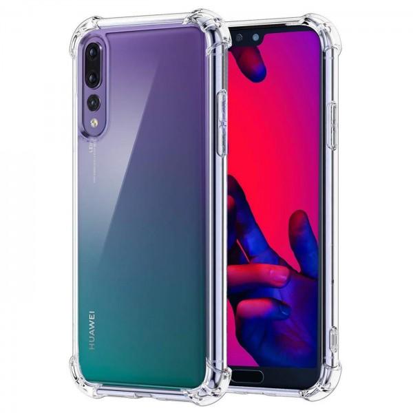 Safers Rugged TPU für Huawei P20 Pro Schutzhülle Anti Shock Handy Case Transparent Cover