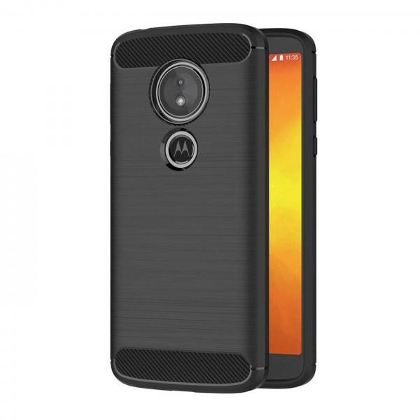 Safers Carbon Hülle für Motorola Moto G6 Play Schutzhülle Handy Case Cover