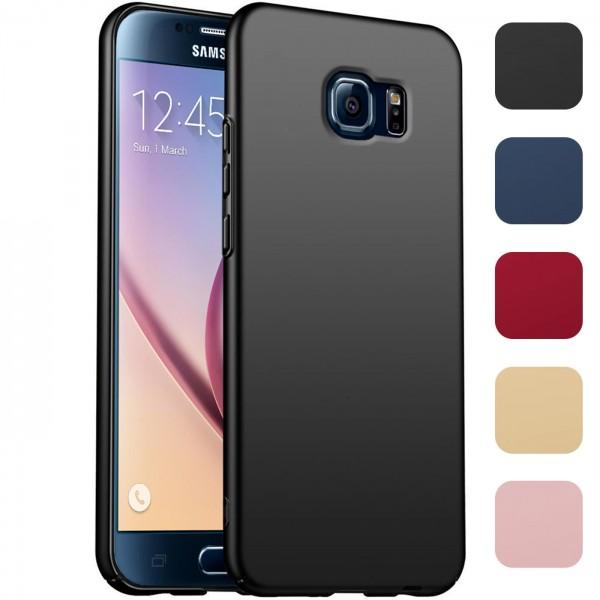 Safers Classic Plain für Samsung Galaxy S6 Hülle Slim Cover Matt Schutzhülle