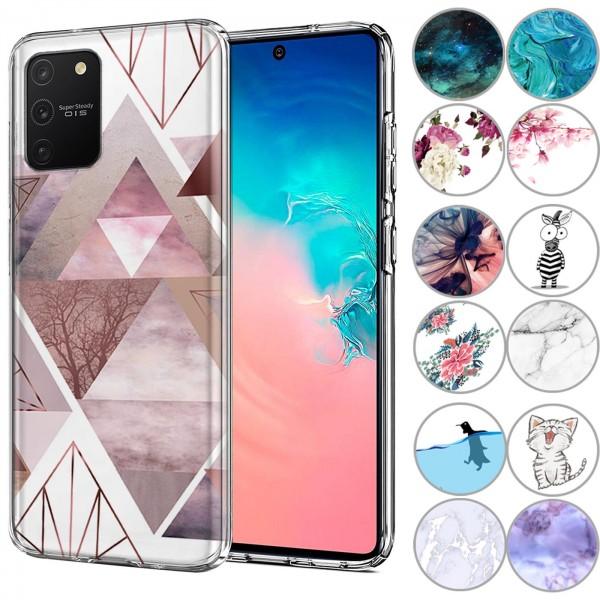 Safers IMD Case für Samsung Galaxy S10 Lite Hülle Silikon Case mit Muster Schutzhülle