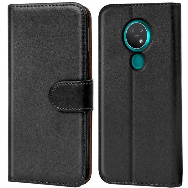 Safers Basic Wallet für Nokia 7.2 / 6.2 Hülle Bookstyle Klapphülle Handy Schutz Tasche