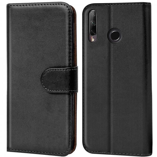 Safers Basic Wallet für Huawei P40 Lite E Hülle Bookstyle Klapphülle Handy Schutz Tasche