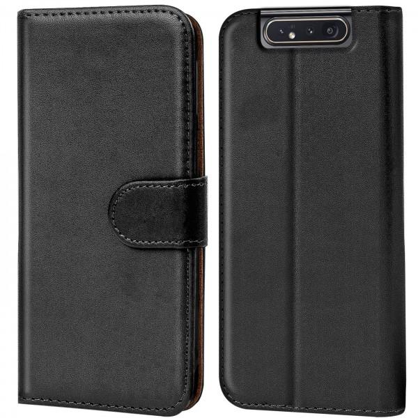 Safers Basic Wallet für Samsung Galaxy A80 Hülle Bookstyle Klapphülle Handy Schutz Tasche
