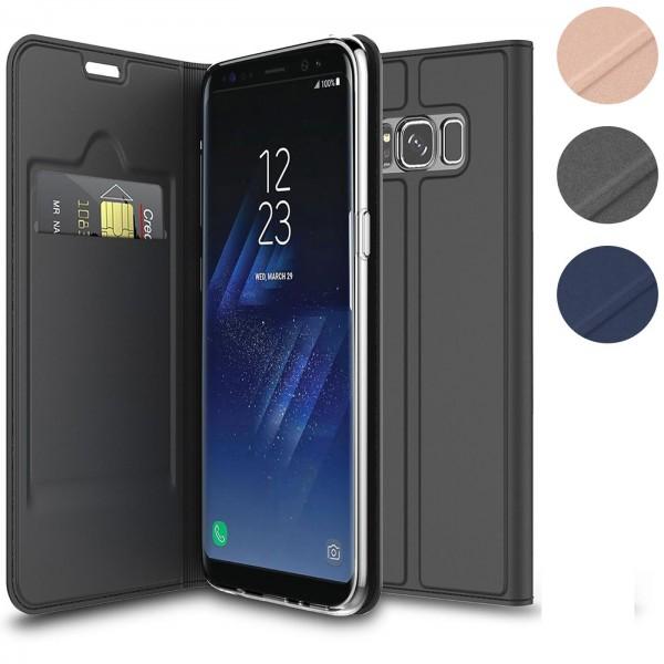 Safers Electro Flip für Samsung Galaxy S8 Plus Hülle Magnet Case Handy Tasche Klapphülle