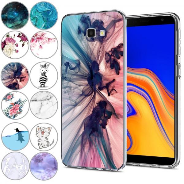 Safers IMD Case für Samsung Galaxy J4 Plus Hülle Silikon Case mit Muster Schutzhülle