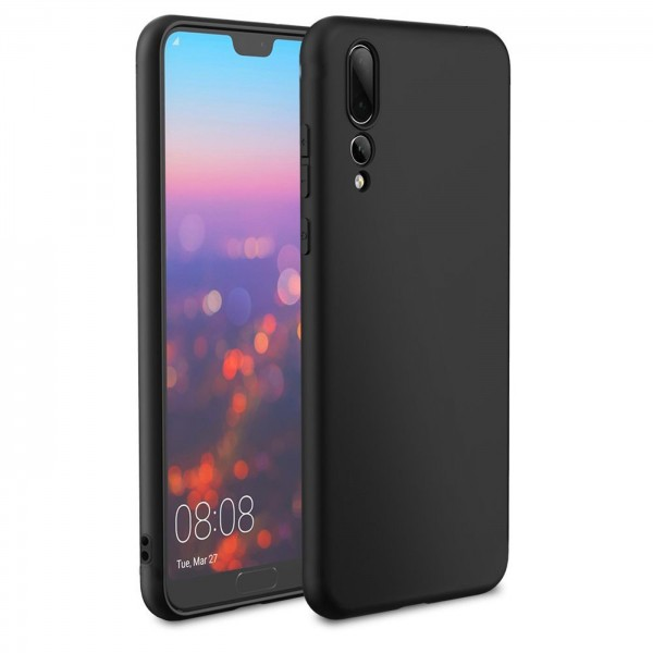 Safers Classic TPU für Huawei P20 Pro Schutzhülle Hülle Schwarz Handy Case