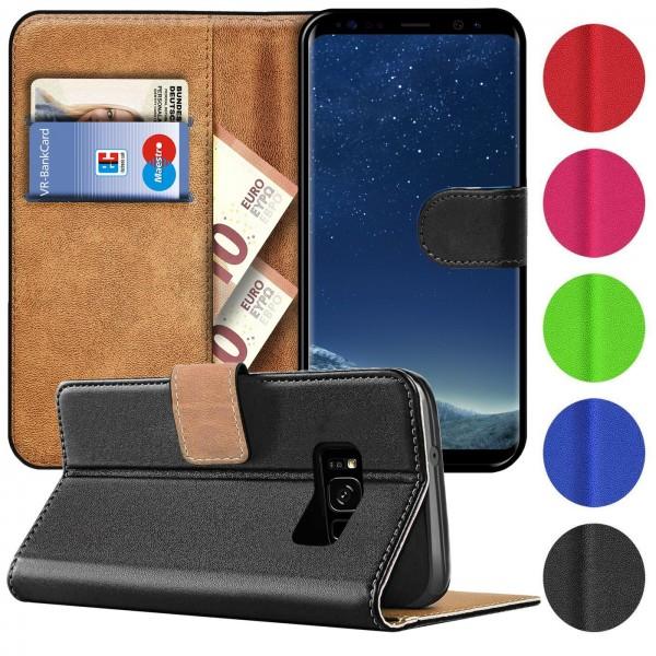 Safers Basic Wallet für Samsung Galaxy S8 Hülle Bookstyle Klapphülle Handy Schutz Tasche