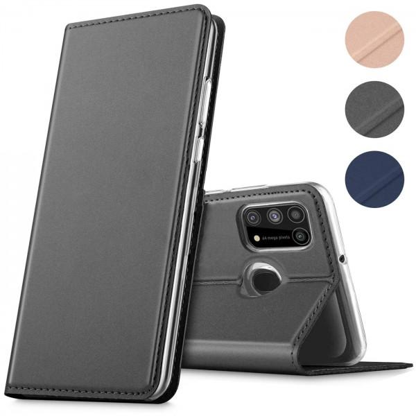 Safers Electro Flip für Samsung Galaxy M31 Hülle Magnet Case Handy Tasche Klapphülle