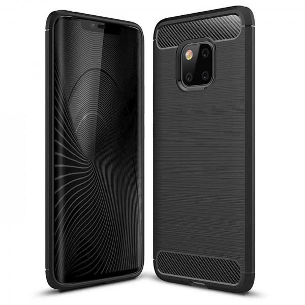 Safers Carbon Hülle für Huawei Mate 20 Pro Schutzhülle Handy Case Cover