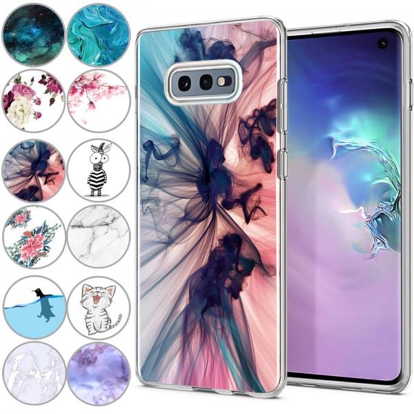 Safers IMD Case für Samsung Galaxy S10e Hülle Silikon Case mit Muster Schutzhülle