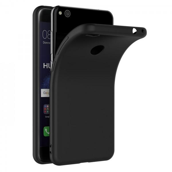 Safers Classic TPU für Huawei P8 Lite 2017 Schutzhülle Hülle Schwarz Handy Case
