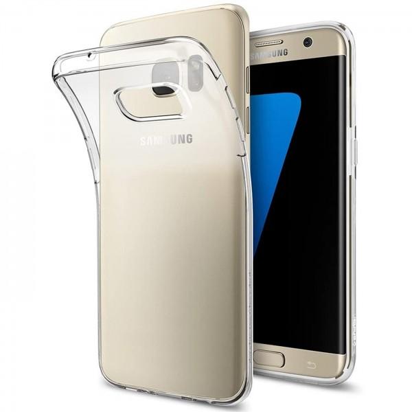 Safers Zero Case für Samsung Galaxy S7 Edge Hülle Transparent Slim Cover Clear Schutzhülle