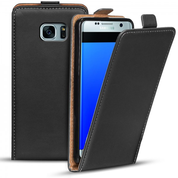 Safers Flipcase für Samsung Galaxy S7 Edge Hülle Klapphülle Cover klassische Handy Schutzhülle