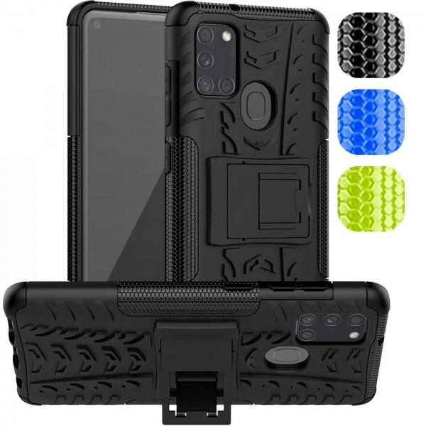 Safers Outdoor Hülle für Samsung Galaxy A21s Case Hybrid Armor Cover Schutzhülle
