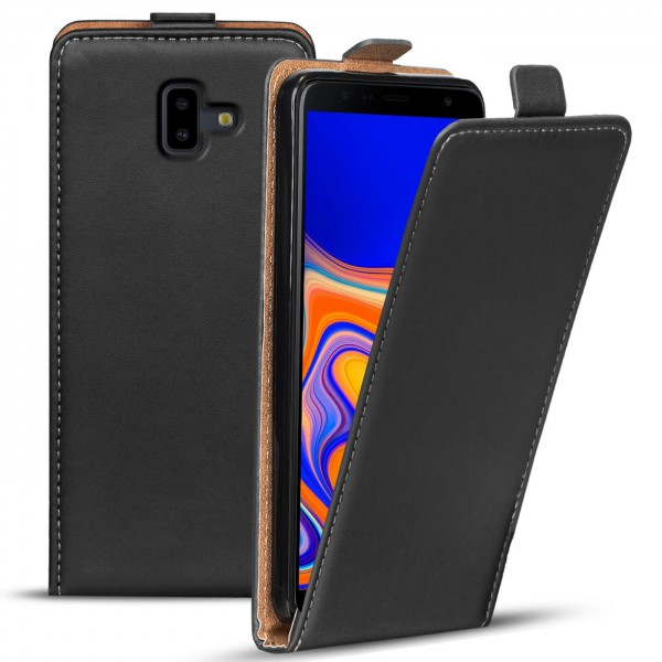 Safers Flipcase für Samsung Galaxy J6 Plus Hülle Klapphülle Cover klassische Handy Schutzhülle