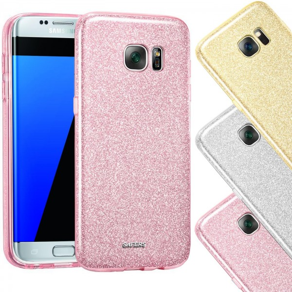 Safers Shiny für Samsung Galaxy S7 Hülle Glitzer Cover TPU Schutzhülle