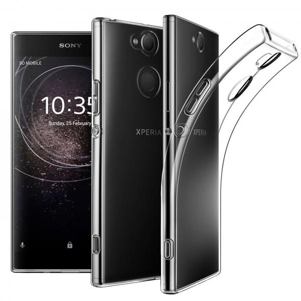 Safers Zero Case für Sony Xperia XA2 Hülle Transparent Slim Cover Clear Schutzhülle
