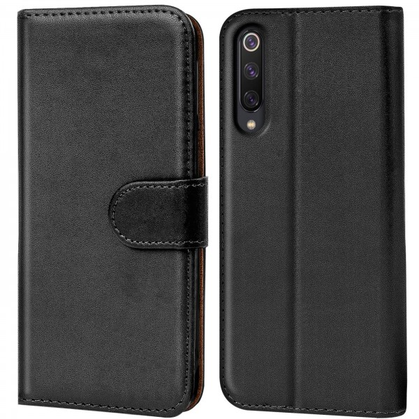 Safers Basic Wallet für Xiaomi Mi 9 Hülle Bookstyle Klapphülle Handy Schutz Tasche