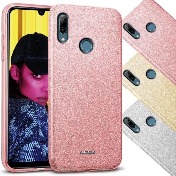 Safers Shiny für Huawei P Smart 2019 Hülle Glitzer Cover TPU Schutzhülle