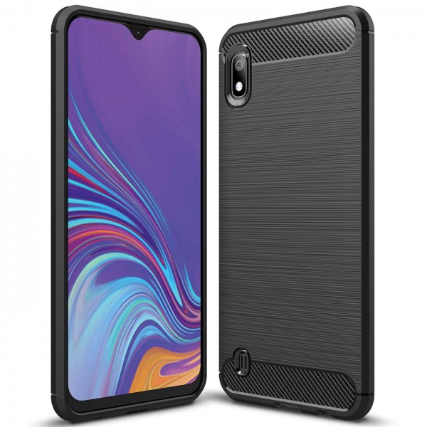 Safers Carbon Hülle für Samsung Galaxy A10 Schutzhülle Handy Case Cover