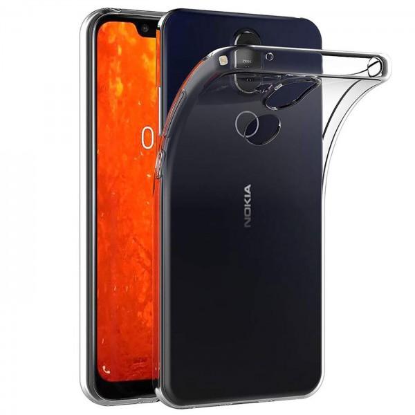 Safers Zero Case für Nokia 8.1 Hülle Transparent Slim Cover Clear Schutzhülle