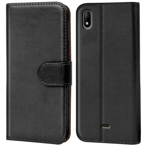 Safers Basic Wallet für Wiko Y61 Hülle Bookstyle Klapphülle Handy Schutz Tasche
