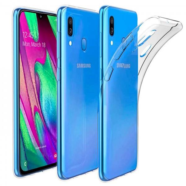 Safers Zero Case für Samsung Galaxy A40 Hülle Transparent Slim Cover Clear Schutzhülle