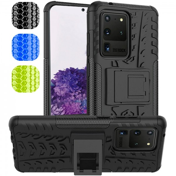 Safers Outdoor Hülle für Samsung Galaxy S20 Ultra Case Hybrid Armor Cover Schutzhülle