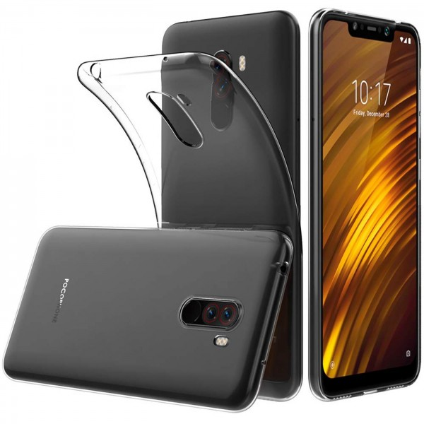 Safers Zero Case für Xiaomi Pocophone F1 Hülle Transparent Slim Cover Clear Schutzhülle