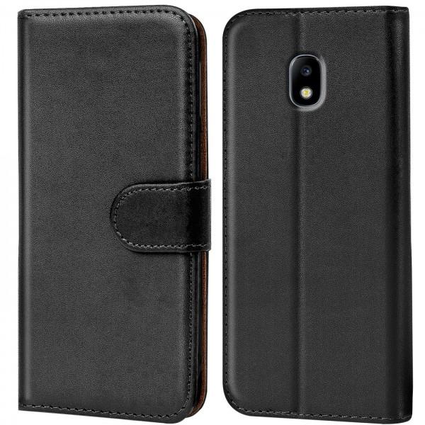 Safers Basic Wallet für Samsung Galaxy J7 2017 Hülle Bookstyle Klapphülle Handy Schutz Tasche