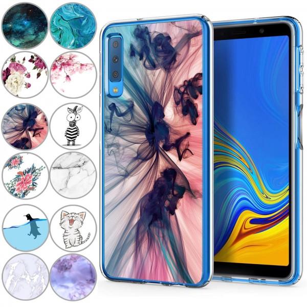 Safers IMD Case für Samsung Galaxy A7 2018 Hülle Silikon Case mit Muster Schutzhülle