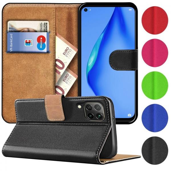 Safers Basic Wallet für Huawei P40 Lite Hülle Bookstyle Klapphülle Handy Schutz Tasche